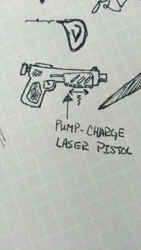 Super awesome pump-charge laser pistol.