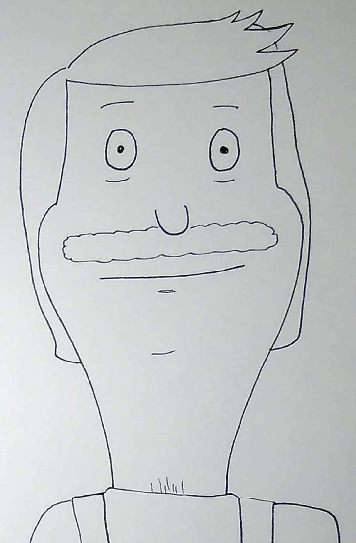 Cartoon Self Portrait: Bob's Burgers